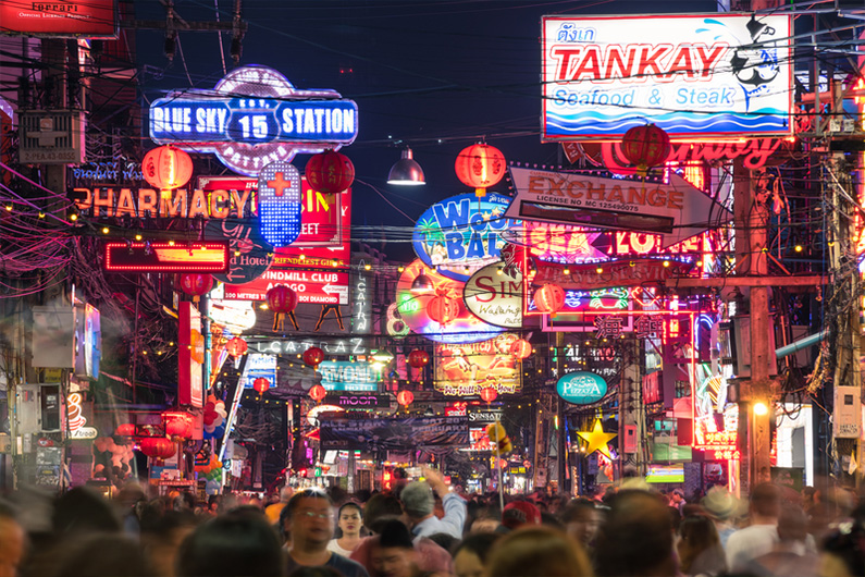 Pattaya Walking Street Nighttime