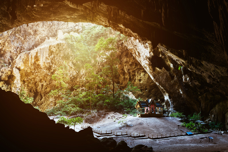 Temple in the cave